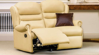 Sherborne Ashford Leather 2 Seater Manual Recliner Sofa | Gordon Busbridge Furniture & Beds Store | Hastings, Eastbourne, St Leonards on Sea, Bexhill & Seaford