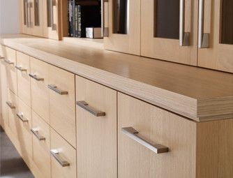 Hepplewhite Linear Home Office Detail in Light Oak Veneer
