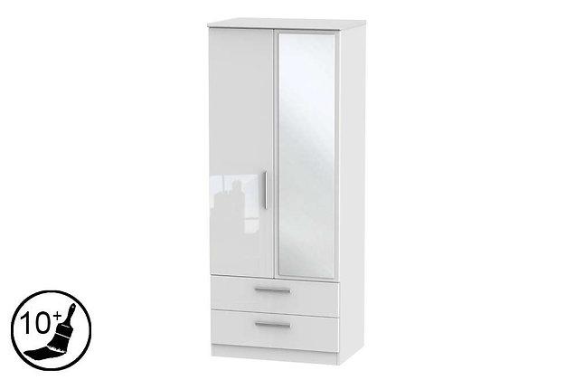 Loire 2 Door, 2 Drawer Wardrobe with Mirror