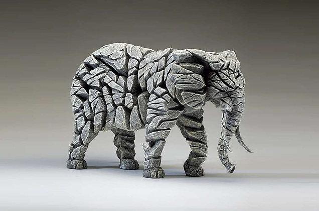 Edge Sculpture Elephant Figure - White
