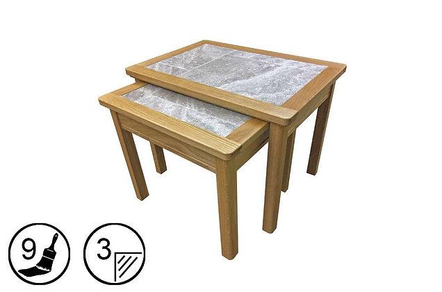 Trentham Nest of 2 Tables - Tile Top
