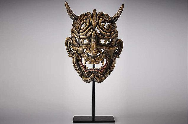 Edge Sculpture Japanse Hannya Mask - Netsuke Golden