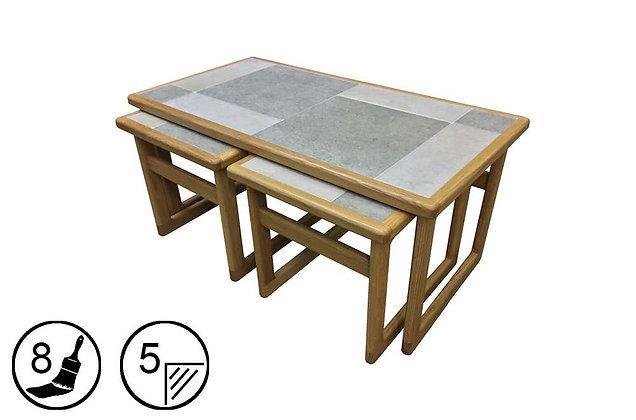 Hanley Lounge Nest of Tables - Tile Top
