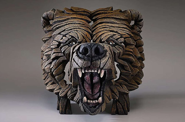 Edge Sculpture Grizzly Bear Bust