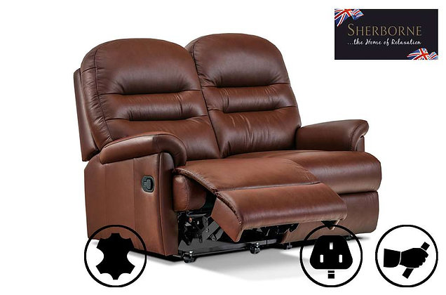 Sherborne Keswick Leather Small 2 Seater Recliner Sofa