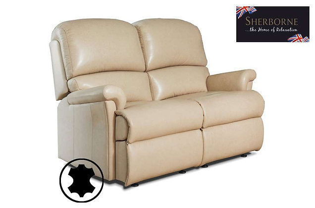 Sherborne Nevada Leather Small 2 Seater Sofa