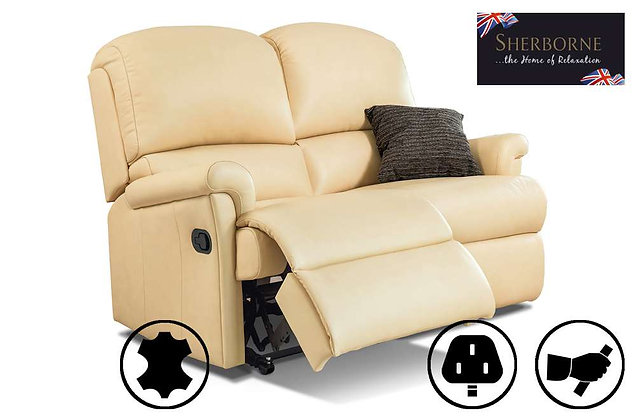Sherborne Nevada Leather 2 Seater Recliner Sofa