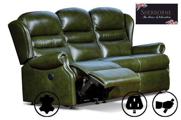 Sherborne Ashford Leather 3 Seater Recliner Sofa