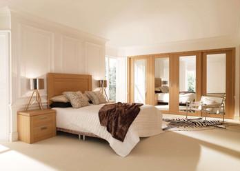 Hepplewhite Real Wood Veneer Sliding Door Wardrobes