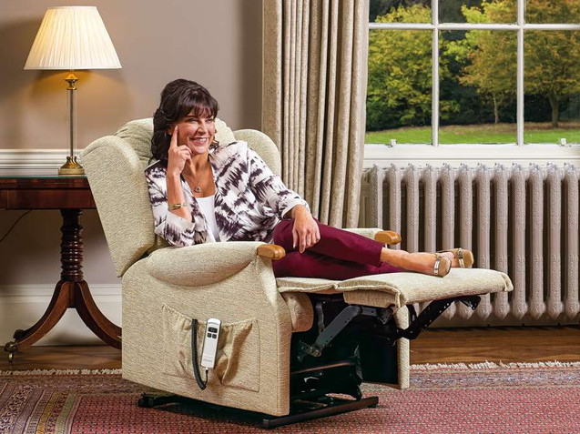 Sherborne Lynton Knuckle Fabric Lift & Rise Recliner Care Chair   Gordon Busbridge Furniture   Hastings, Eastbourne, Seafrod, Bexhill, St Leonards on Sea