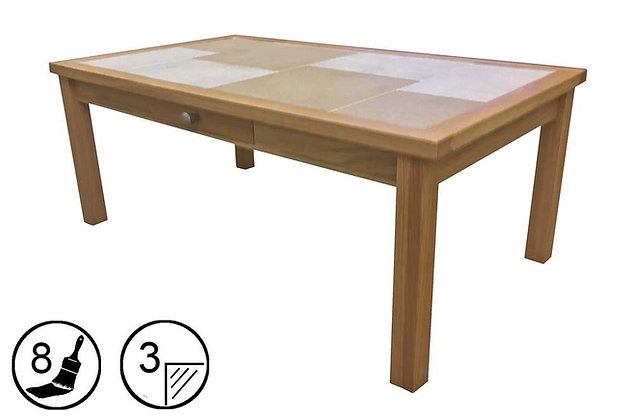 Bearstone Large Coffee Table with Drawer