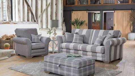 Monaco 3 Seater Sofa, Armchair & Ottoman
