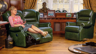 Sherborne Ashford Leather 2 Seater Manual Recliner Sofa and Armchair   Gordon Busbridge Furniture & Beds Store   Hastings, Eastbourne, St Leonards on Sea, Bexhill & Seaford