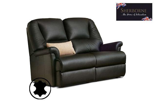 Sherborne Milburn Leather Petite 2 Seater Sofa