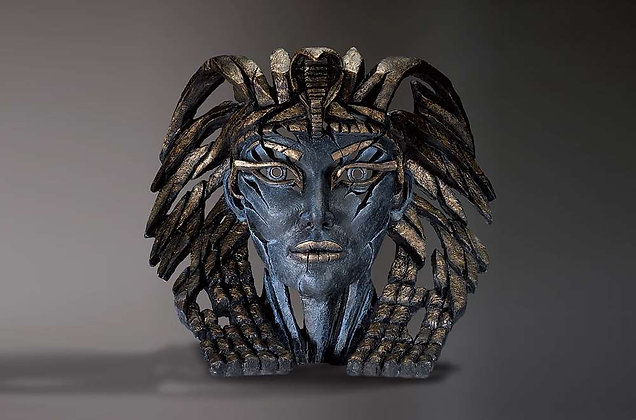 Edge Sculpture Cleopatra Bust - Egyptian Blue
