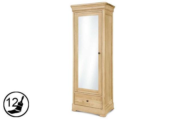 Tuscany 1 Door, 1 Drawer Wardrobe with Mirror