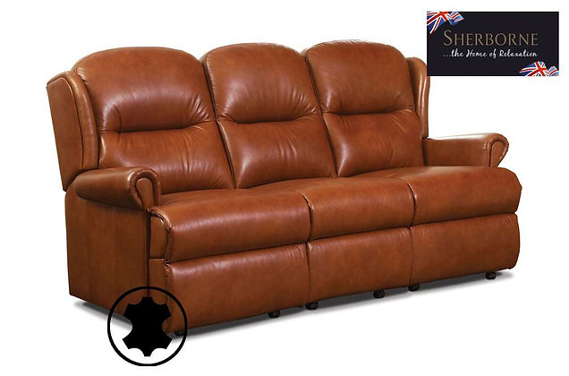 Sherborne Malvern Leather Small 3 Seater Sofa