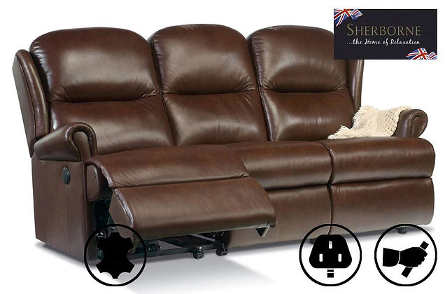Sherborne Malvern Leather Standard 3 Seater Recliner Sofa