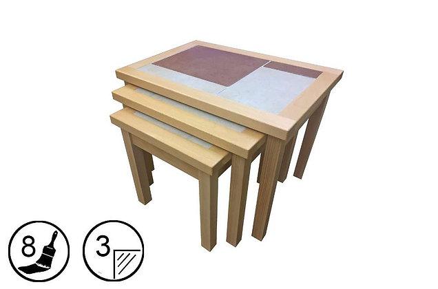 Bearstone Nest of 3 Tables