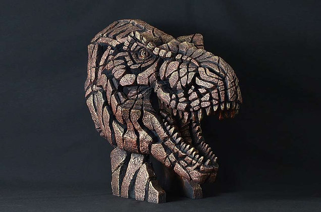 Edge Sculpture T Rex Bust - Bronze Patina