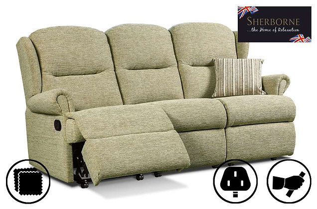 Sherborne Malvern Small 3 Seater Recliner Sofa