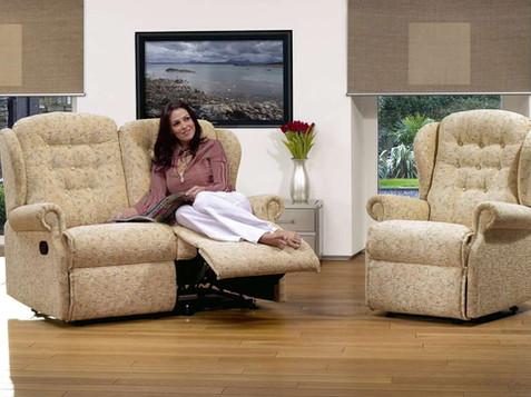 Sherborne Lynton Fabric 2 Seater Recliner Sofa & Armchair | Gordon Busbridge Furniture | Hastings, Eastbourne, Seafrod, Bexhill, St Leonards on Sea