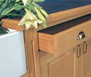 Marpatt Bespoke In-frame Collection - Old England in Light Oak (drawer detail)