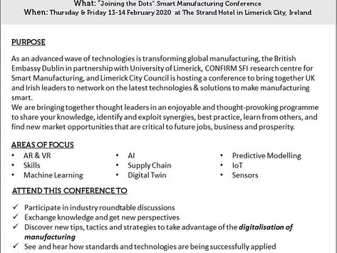 Joining the Dots - Smart Manufacturing Conference