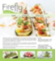 Magazine advertisement for Firefly Restaurant.