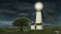 The Lighthouse - Stormy