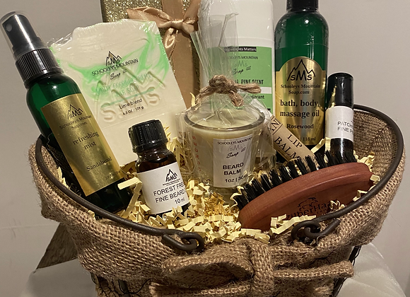 SPA THEMED GIFT BASKET SETS FOR HIM OR HER