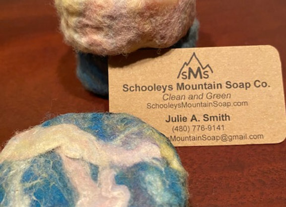 FELTED NATURAL SOAP - MERINO WOOL & SILK