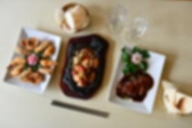 china moon diner couple fruits de mer sauce basilic canard laqué cinq fleurs de fête chips crevette