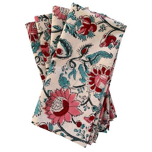 English garden blockprint napkins