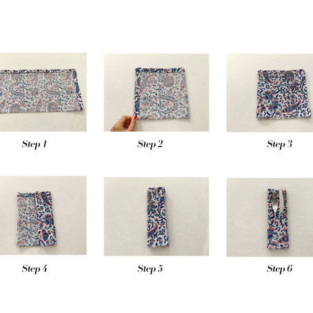 How to fold your dinner napkins