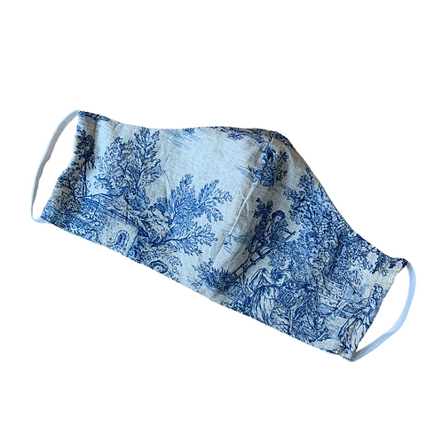 Pack of 2 - Toile de Jouy face mask