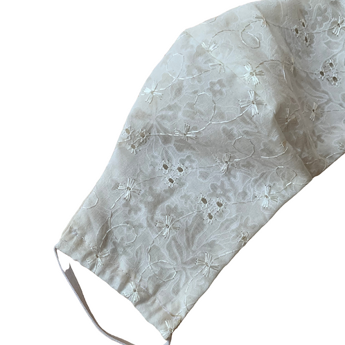 Limited Edition - Broderie Anglaise face mask