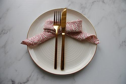 Rose petal napkins (Set of 4)