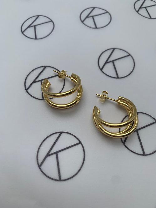 Gina | Triple Hoop Earrings
