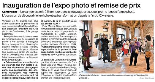 Cambremer : expo photos