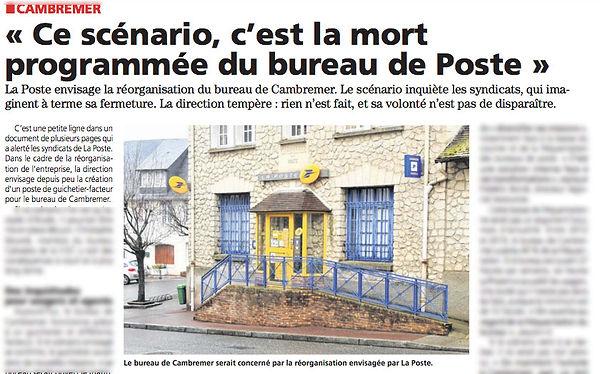 Reorganisation de la poste de Cambremer - Le Pays d'Auge - 3 fevrier 2021