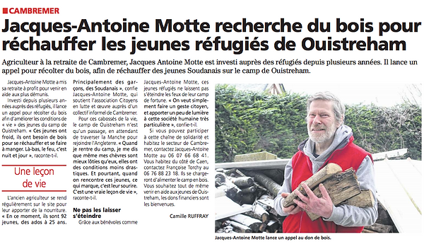 Migrants de Ouistreham - Le Pays d'Auge - 9 fevrier 2021