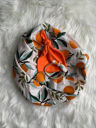 Orange Swaddle Set