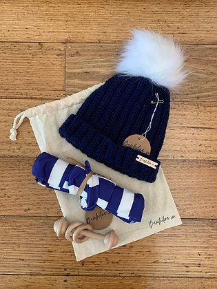 Blue Stripe Gift Set