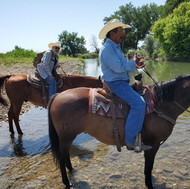 Crossing the Little Bighorn River