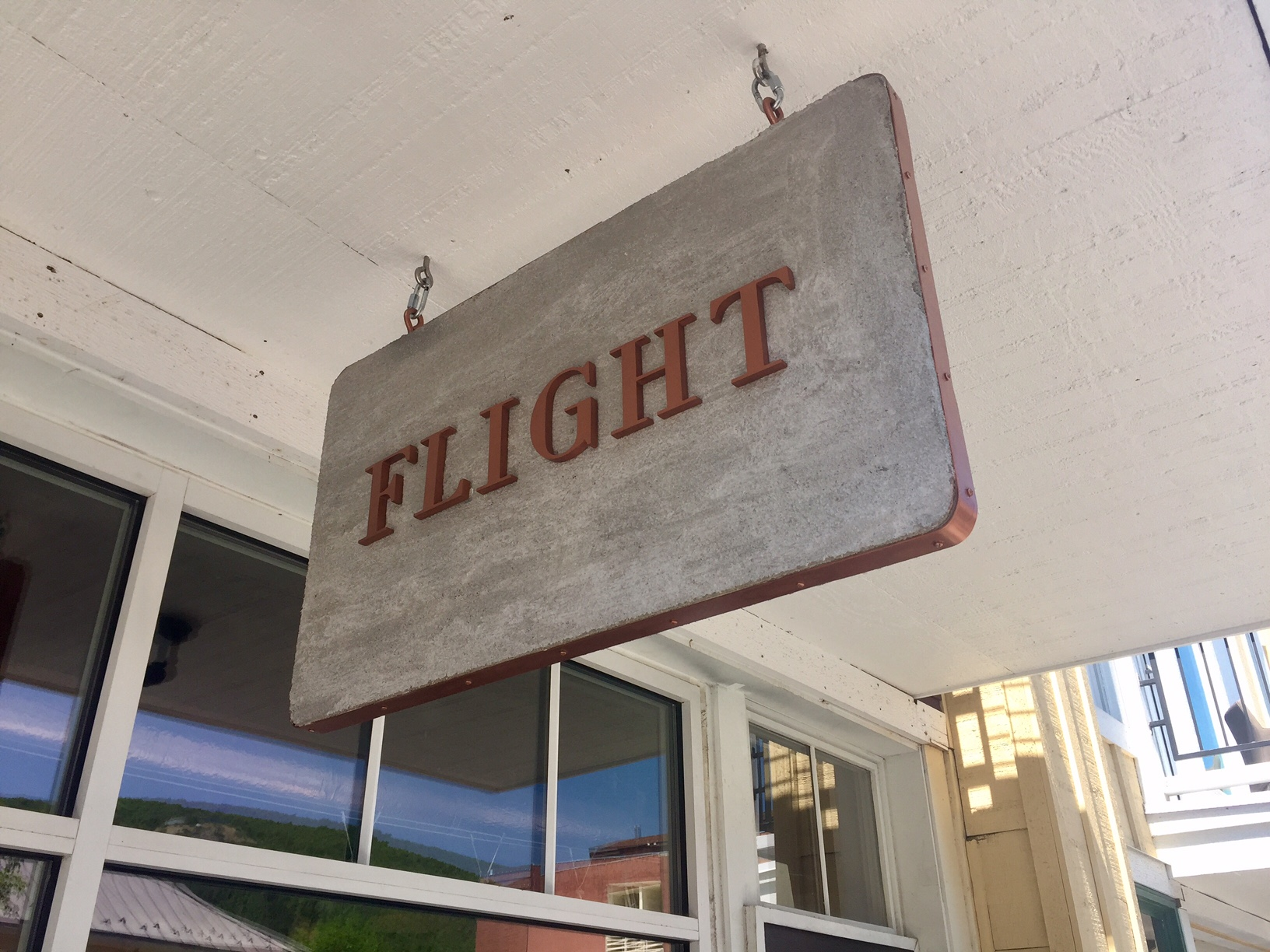 Flight hanging sign
