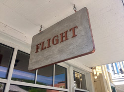 Flight hanging sign