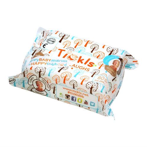 TICKLS 無味 純水濕紙巾 (80片) 6包