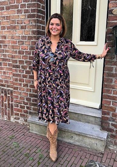 Yoek stroken jurk