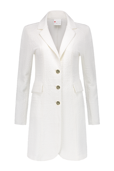 Tuxy bouclé blazer off-white Helena Hart